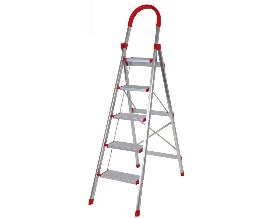 CE certificated Aluminum 5 step household ladders