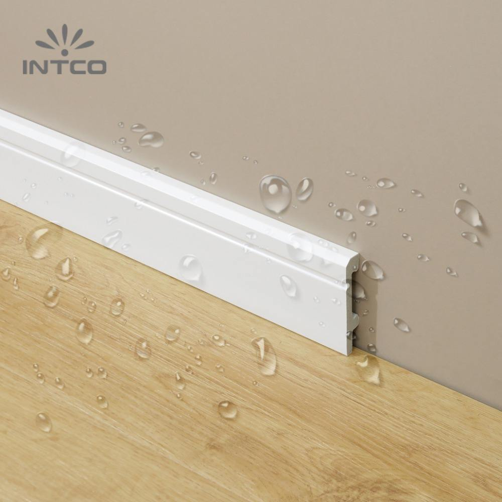 INTCO Quick Install Waterproof Decorative Plastic Foam PS Cornice Skirting Base Board