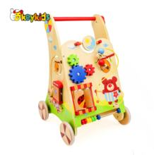2019 Top sale educational wooden baby play walker wholesale W16E034