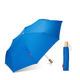 Wholesale Cheap Topumbrella Outdoor Wood Handle Lake Blue 3 Folding Umbrella