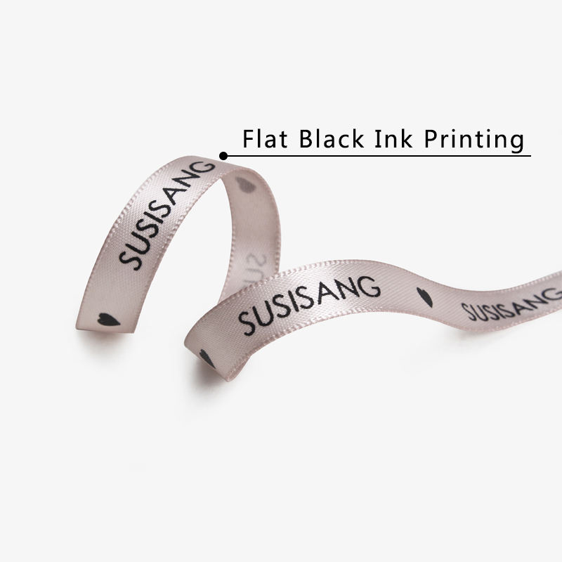 HOT SALE Customized Brand Name Printed Grosgrain Ribbon with Logo