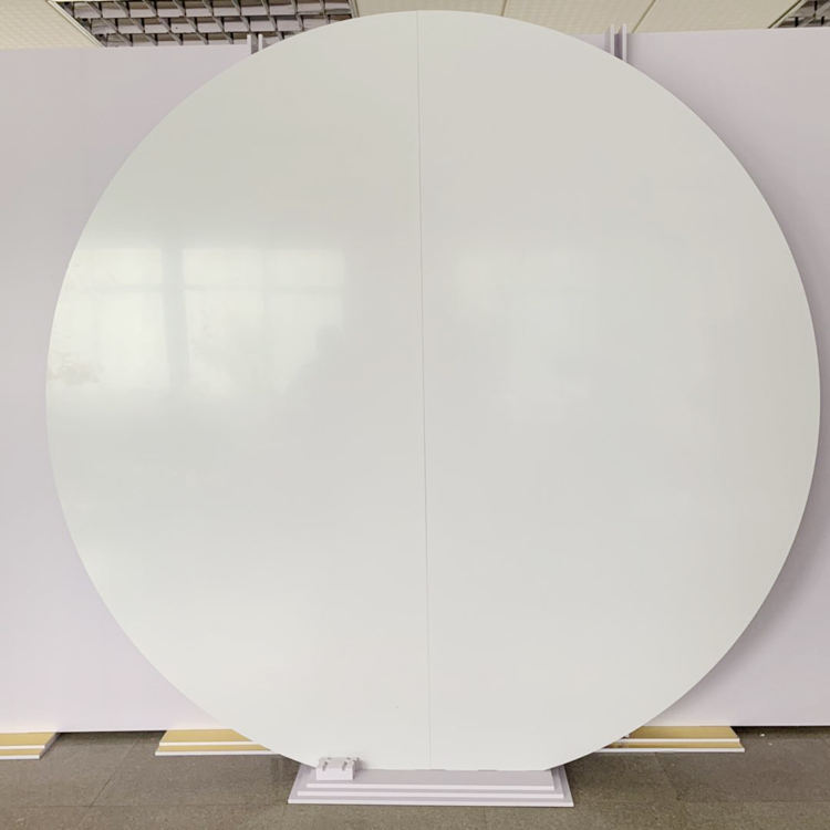 Round Circle Donut Acrylic White Wall Backdrop for Wedding