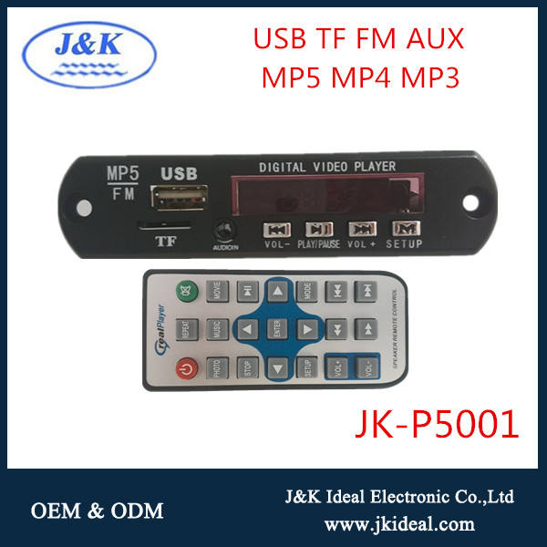JK-P5001 Hot usb video player sirkuit usb mp4 modul