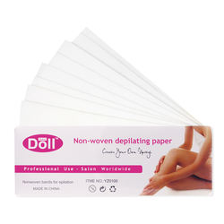DOLL WAX 100pcs Factory sale of high quality depilatory strips  non-woven fabric hair removal waxing paper
