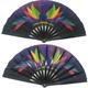 33cm Single Side Fabric Custom Printed Kung Fu Fan Folding Large Chinese Hand Fan