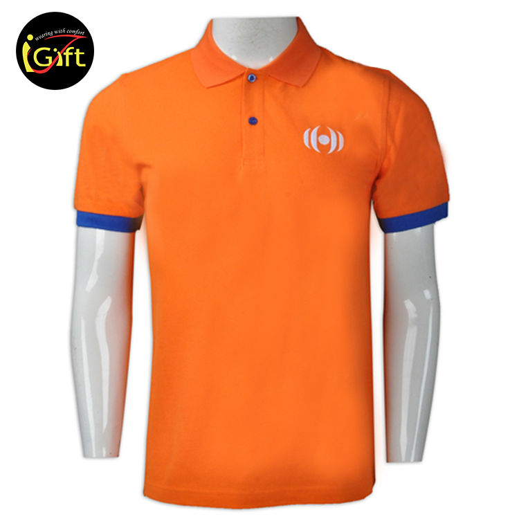 iGift Bsci/Iso9001 2017 Mens Customized Screen Print Cvc Polo Shirt