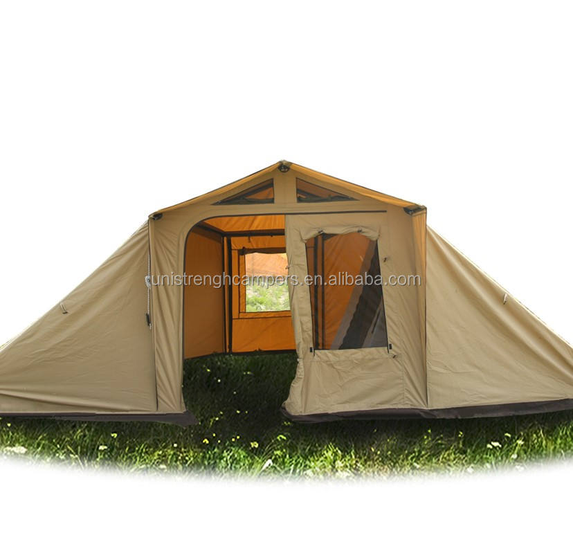 2 Room 1 Hall Family tent, 5 Person Double Layer Camping tent