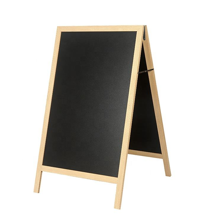 Drawing Toys Board Chalk Writing Doodle DIY Colored Painting Chalkboard Custom Size Teak Wooden Frame For Kids