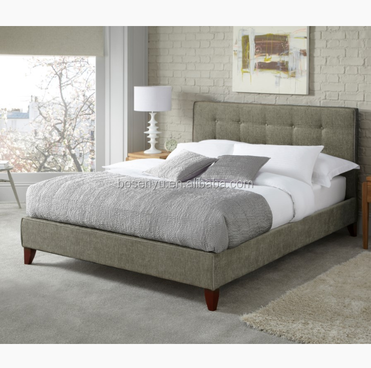 Small double beds, buttoned headboard upholstered bed frame