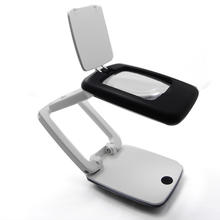 3X folding portable magnifier desktop stand Magnifying glass with led lamp