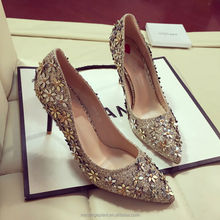 wedding bridal shoes gold wedding High heels Glitter Shoes wedding Bridesmaid shoes girlfriend gift Pumps