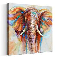 Original design modern Animal Elephant wall art for living room  Printed Hand made Painted Oil Painting
