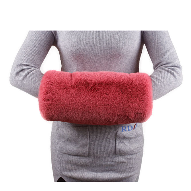 Winter Protection Lady Red Wedding Warmer Fox Faux Fur Hand Muff