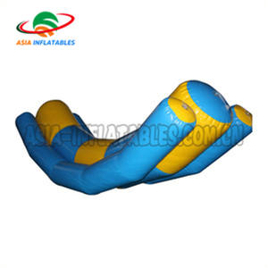 Inflatable See Saw Inflatable เชื่อมต่อโซ่ดูเลื่อย/inflatable water totter see - saw เกมสระว่ายน้ำ