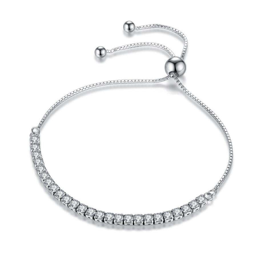 wholesale Fashion Women Charms Jewelry 925 Sterling Silver Bracelets Bead Bangle