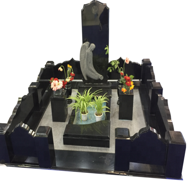 Factory Price Cheap Black Tomb Monument Memorial Stone For Graves