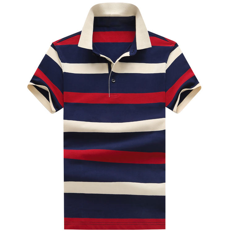Garment 공장 면 100% Striped Man Polo T-shirt