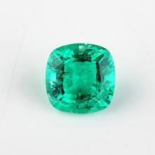 Starsgem Cushion cut synthetic lab created emerald gemstone for golden jewelry