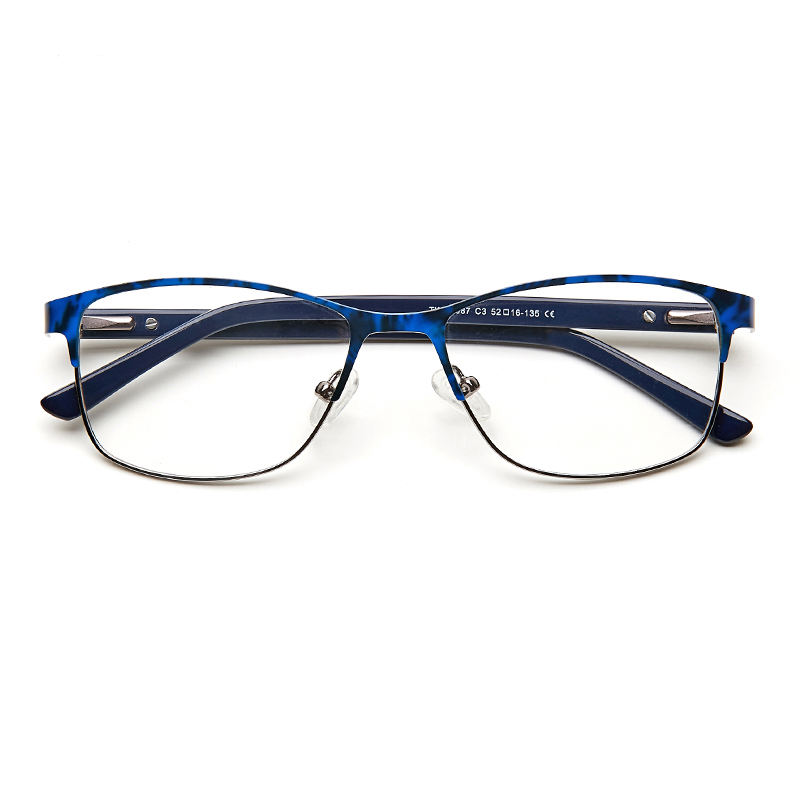 Metal Women Glasses Clear Fashion Transparent Frame No Degree Decorative Grade Ladies Spectacle Frame #TWM6087C3