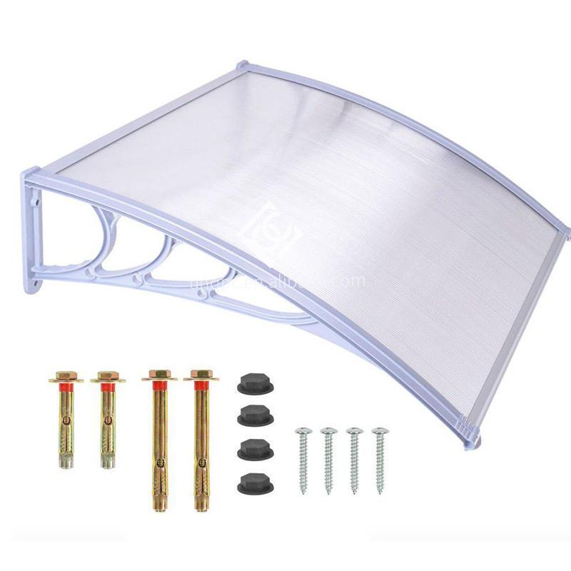 cheap customized pc plastic window awnings front door canopy for buildings