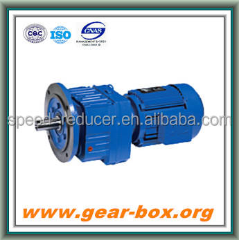RF inline flanged helical gearmotor with YB Ex proof AC motor for chemical reactor
