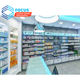 Muebles Para Tiendas Tempered Glass Pharmacy Display Counter Wooden Display Cabinet Medical Store Furniture Design