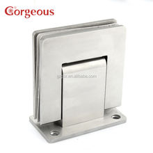 304SS hydraulic shower hinge 90 degree wall to glass for glass door
