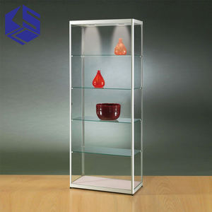 Hot sale museum display showcase furniture glass vitrine display cabinet