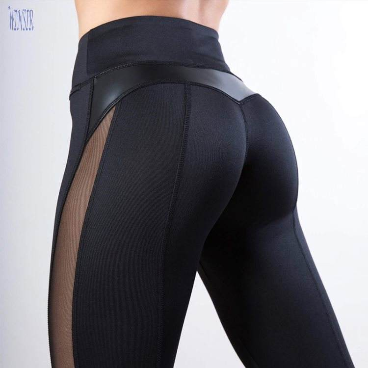 Sexy Schwarzen Push-Up Sportswear Mesh Trockenen Fit Gym Leggings sport Hohe Taille Atmungs yoga Leggins frauen fitness