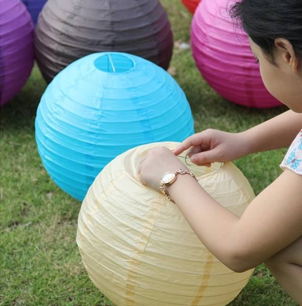Wholesale Eco-friendly Multi-colored chinese 48inch paper lantern