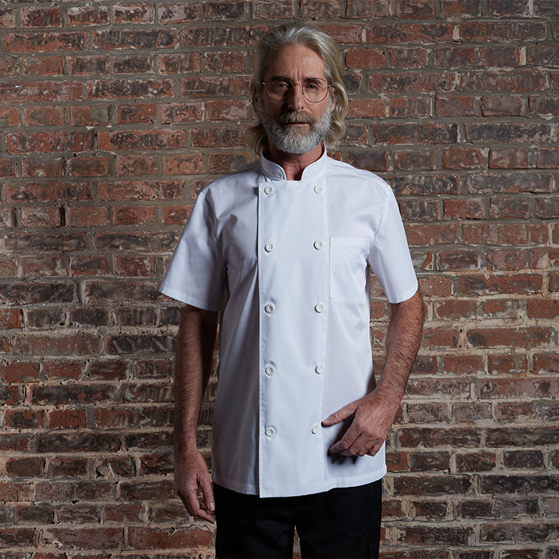 Checkedout RTS Unisex Short Sleeve Chef Coat