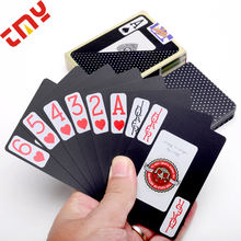 Customized 100% Plastic Blank Playing Card Printing Die Cut,Custom Design Waterproof Black Pvc Plastic Clear Playing Card