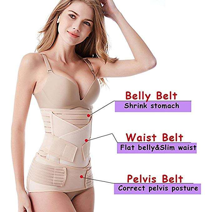WomenのPostpartum Belly Wrap 3で1 Recovery Belly Wrap Waist/Pelvis Belt