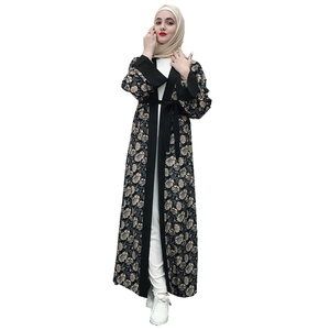 Promotional Cheap Price!!! Fashion Islamic clothing Abaya flower dress for Muslim women
