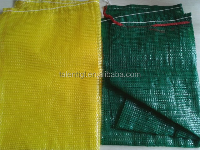yellow HDPE oyster mesh bag