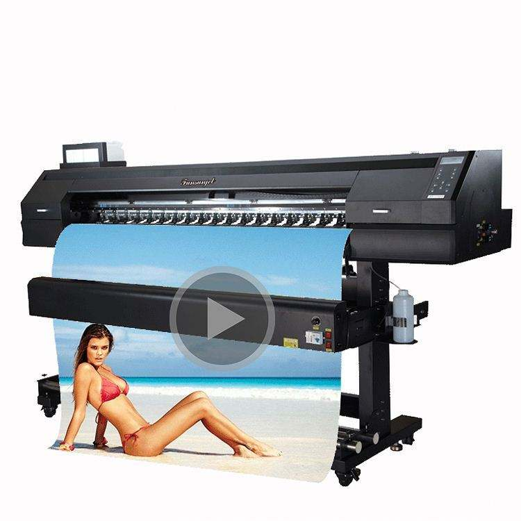 Top selling Funsunjet FS1700 1.7m plotter printing and cutting machine for poster print with DX5 head 1440dpi
