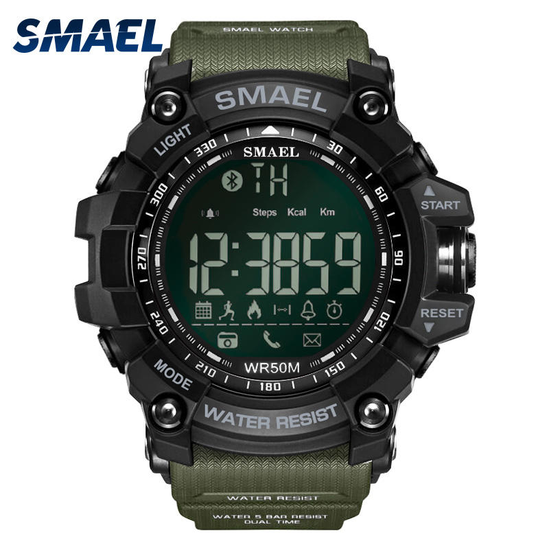 Smael Brand Luxury Smartwatch IOS Android Calls Remind Remote Camera Digital Led Fashion Waterproof Sports Men Watch