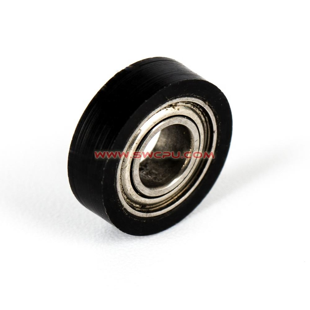 Hard Solid injection molded rubber small car solid wheels for sale