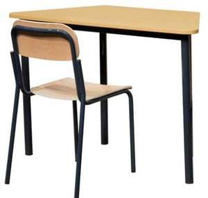 Price for middle school single desk and chair furniture