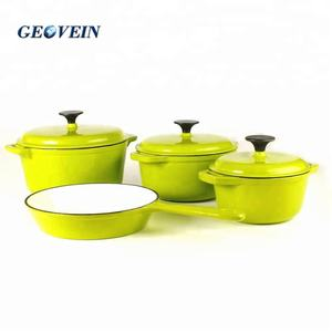 Russische Cookware Set Potten En Pannen Set Enamelware Gietijzeren Koken Pot Set