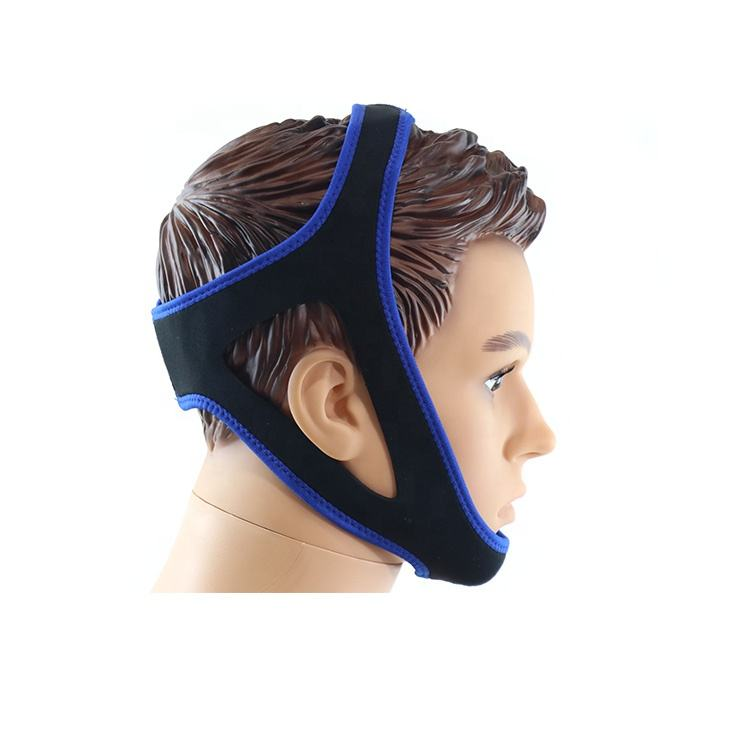 Wholesale breathable neoprene sleep aid stop snoring straps devices adjustable chin strap anti snoring