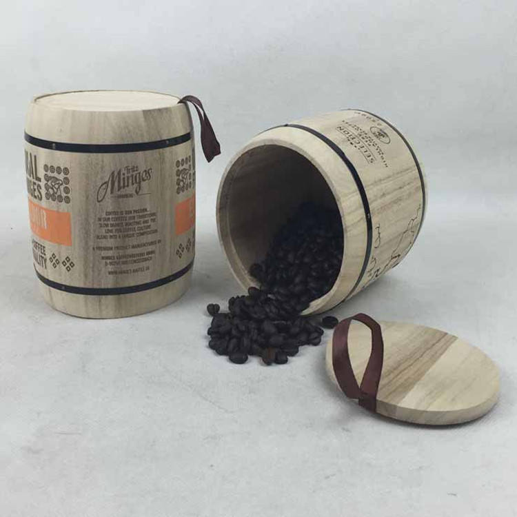 Christmas Gift Wooden Tea Pickle Barrel