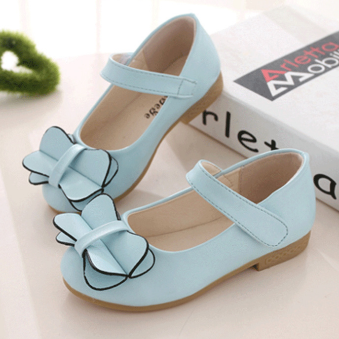 YY10079S Wholesale new model beautiful fancy bowknot flat dress shoes girls shoes kids princess