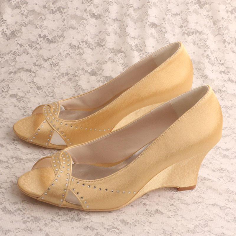 (21 Colors) 7.5CM Heel Open Toe Wedge Shoes Shenzhen