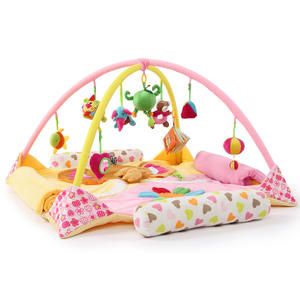 kids play mat/high quality EU standard educational toy plush baby play mat/kids folding play mat