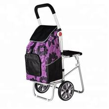 Big Wheel Folding Shopping High Quality Trolley With Chair