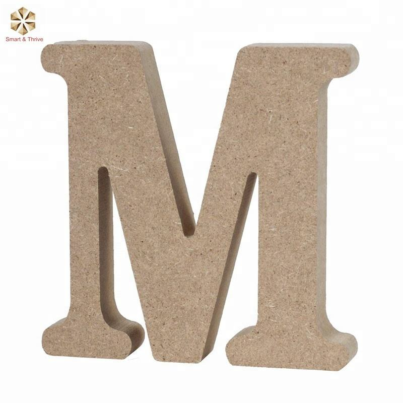 DIY Wall Numbers Decoration Wood Different Styles Alphabet Letters