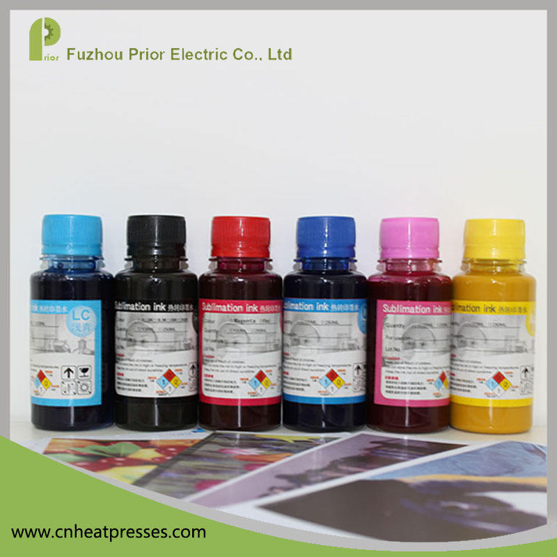 High Quality 6 Colors Heat Transfer Dye Ink Korea Sublimation Ink for Cotton Fabric