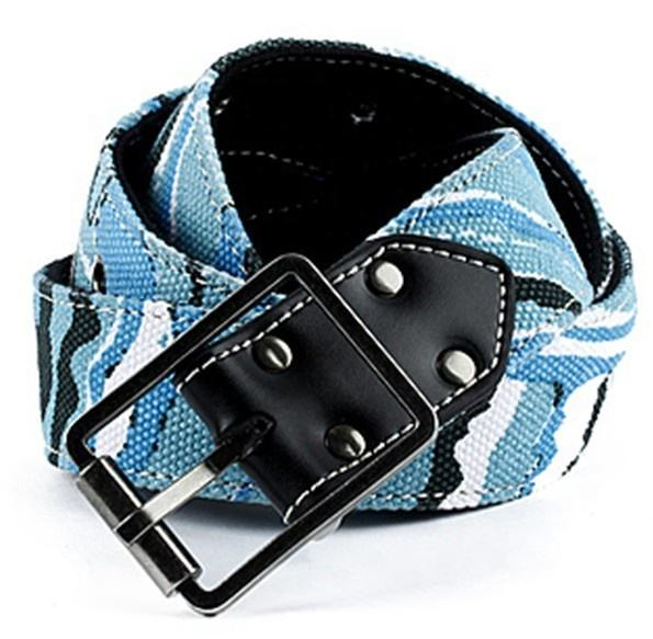 children kids fashion printed leather canvas belt