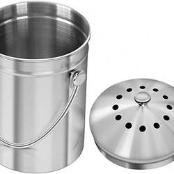 4 Filters Stainless Steel Kitchen Compost Bin